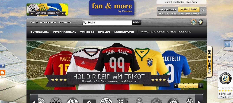 Fussball Fan Kleidung kaufen – auf www.FanAndMore.de