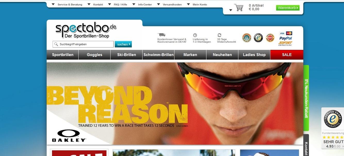 Sportbrillen online kaufen – auf Spectabo.de
