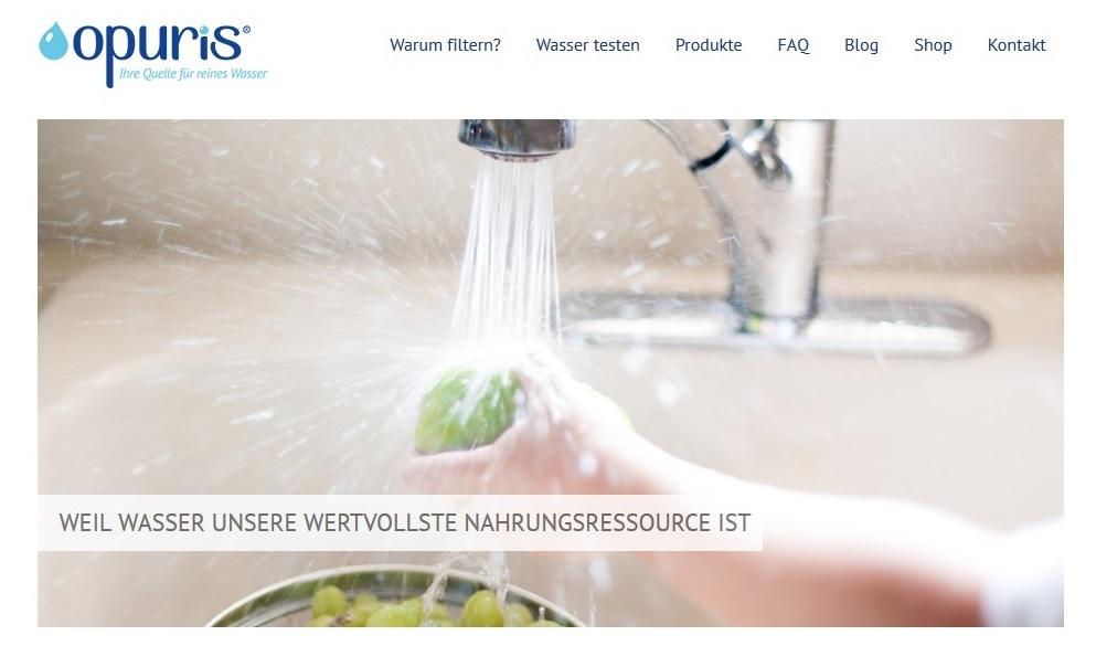 Trinkwasser aufbereiten? Tipps und Produkte gibt es auf Opuris.com
