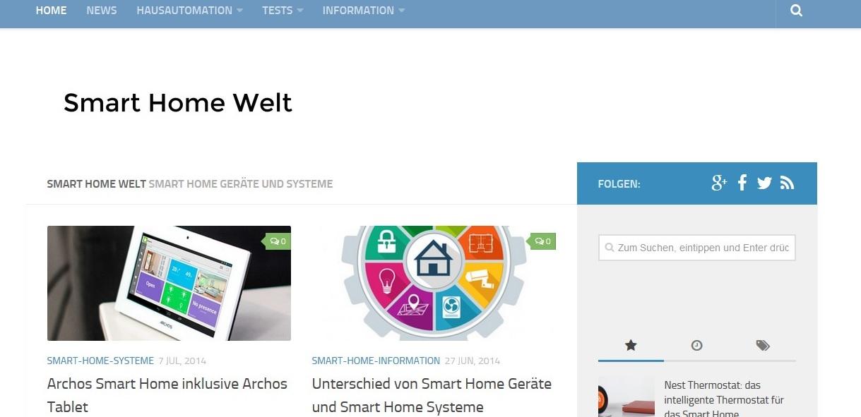 Smart Home – Interessante Infos auf Smarthomewelt.de
