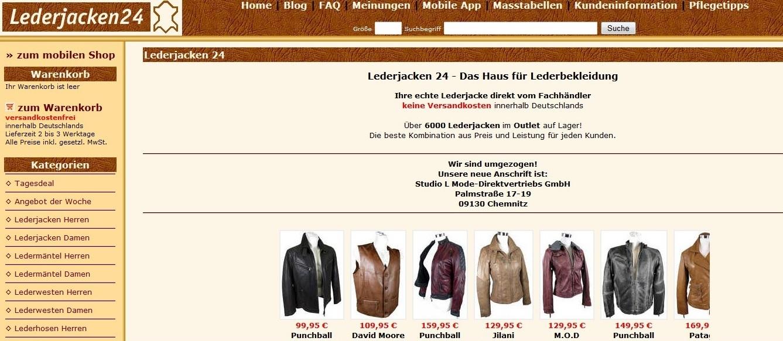 Lederjacken & Kleidung gibt es auf Lederjacken24.de