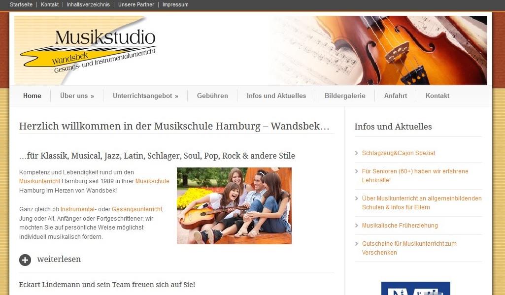 Musikschule in Hamburg gesucht? Mein Tipp: Musikstudio-Wandsbek.de