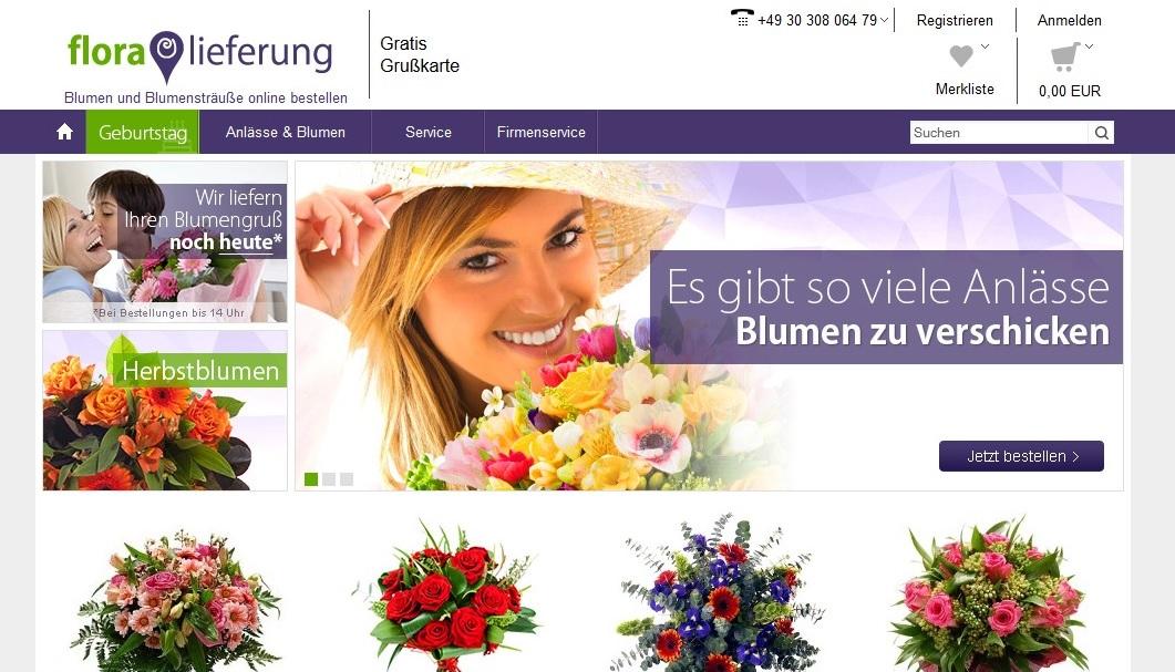 Blumen bestellen auf Floraflieferung.de