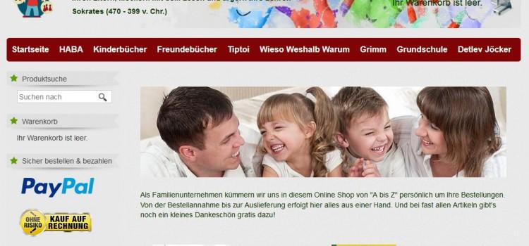 Kinderspielwaren und Kinderbücher gibt es bei laura-und-felix.de