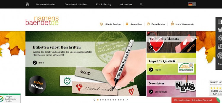 Individuelle Etiketten findest du auf Namensbaender.de