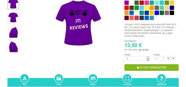 T-Shirts selbst bedrucken auf shirt-x.de