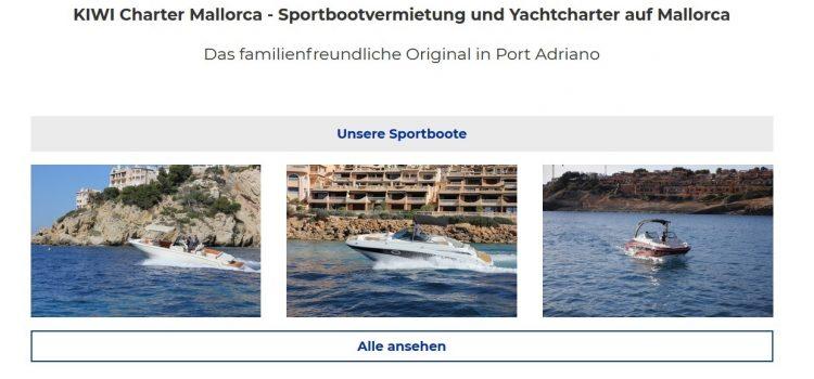Boote mieten auf Kiwimallorca.com