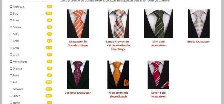 Stilvolle Krawatten findest du auf www.krawatten-viadimoda.de