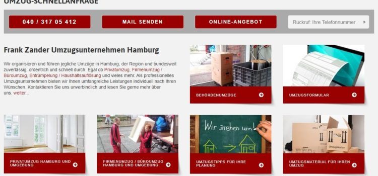 Empfehlung: Seriöses Umzugsunternehmen in Hamburg